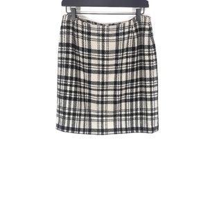 Eddie Bauer Wool Blend Tartan Plaid Skirt